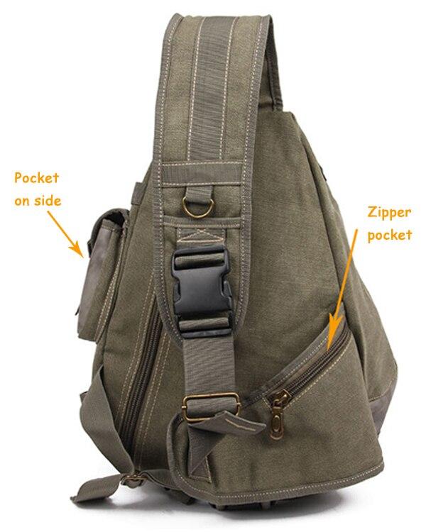 Aliexpress.com : Buy Brand designer cool canvas sling bag chest ...