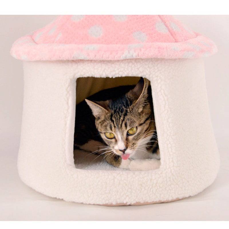 buy winter warm fleece dog cave bed house for chihuahua cute mushroom dog cat pet luxury sofa tent bed indoor house kennel nest from