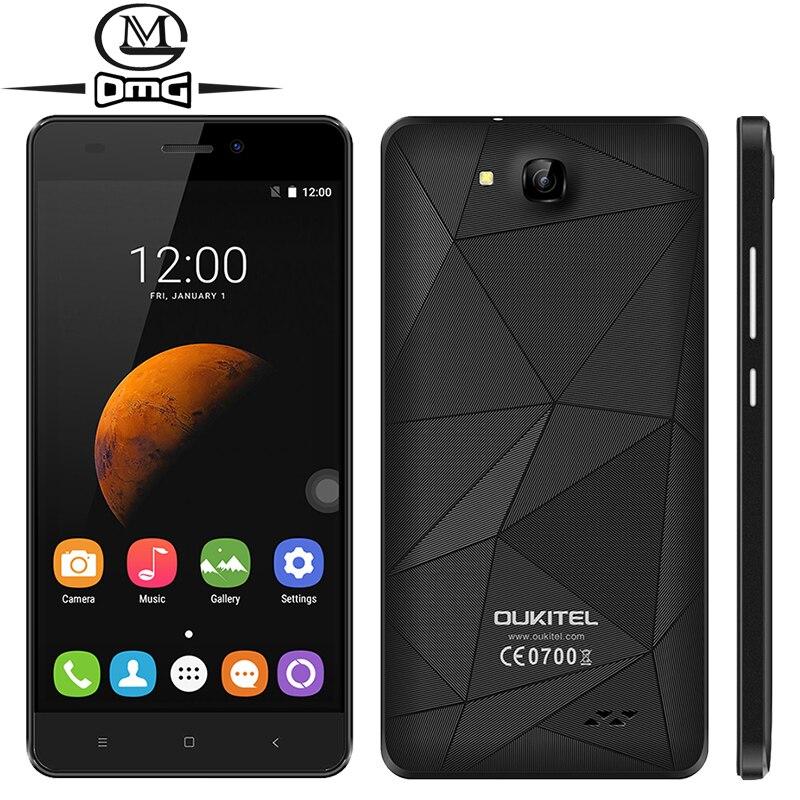 Цена за Оригинал Oukitel MT6580A C3 Quad Core Смартфон Android 6.0 5.0 дюймов 3 Г WCDMA 1 ГБ RAM 8 ГБ ROM Две СИМ карты мобильного телефон