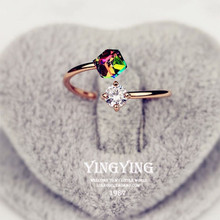 New fashion gift color gold rose gold ring open shape design color female female wedding ring