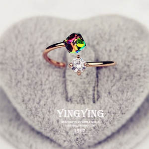 Ring Rose-Gold Design-Color New-Fashion Open-Shape Female