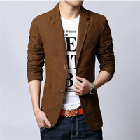 Mens Blazer Jacket Teen Fashion Casual Suit Jacket Men S 3XL Black and Khaki and Brown men Coat