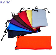 KALIA Multi-Functional 20pcs/lot Soft Cloth Cleaning Eyewear Sunglasses Bag Pouch Optical Glasses Case Container