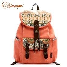 Douguyan Брендовые женские Цветочный принт рюкзак Школьные ранцы случайные холст рюкзак милый корейский стиль для девочек Школьный рюкзак G00137A