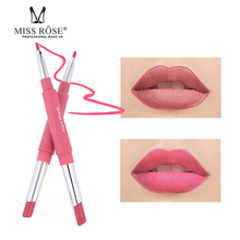 Miss Rose Brand Lipstick 8 Colors Dobuble Side Lip Liner Moisturizing Waterproof Matte lips Makeup
