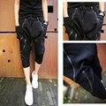 New Arrival Mens Casual Harem Jogger Pants Men Zipper Drop Crotch Drawstring Sweatpants Black Loose Fit Pencil Joggers Pant