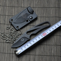 Hunting Knife 5Cr15 56HRC Titanium ABS Case Fixed Blade Tactical Knives Outdoor Survival Knife Camping Knife