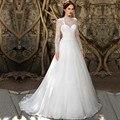 2017 Elegant Wedding Dress Scoop Neck Sexy Open Back Long Sleeve robe de mariage Casamento Trouwjurk Vestidos Longos