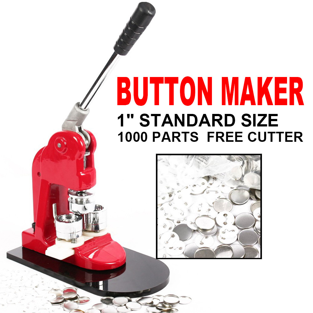 US $195 8 11% OFF|LEESONS INC Heavy Duty Pin Button Badge Maker Punch Press  Machine with 1000 Pcs Button Parts and Circle Cutter 2 1/4