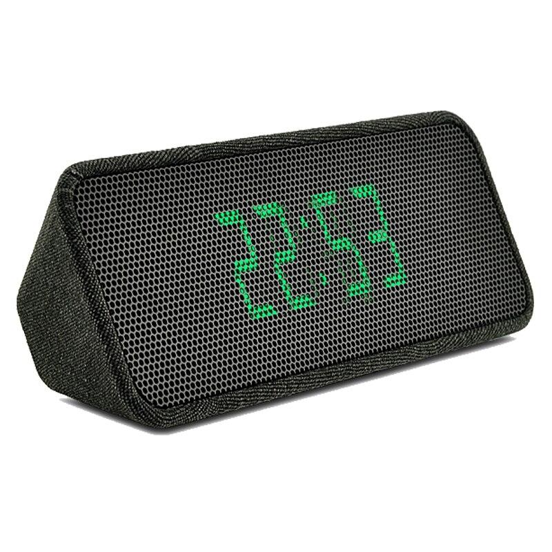 Dernier tissu art sans fil Bluetooth haut-parleur affichage LED réveil haut-parleur bluetooth mains libres stéréo haut-parleur avec radio fm