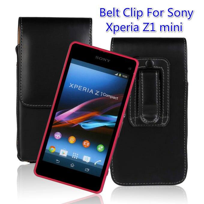 Clip ceinture Étui En Cuir Pour Sony Xperia Z1 Mini Compact D5503 Couverture À Manches Doublure sac Housse + one direction et téléphone cas