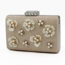 Hot Luxus Damen Perle Gold Clutch Mode Frauen Kristall Strass Abendtasche Designer Hochzeit Tasche MYCYX-A0030