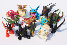 13pcs/set 5~7cm How to Train Your Dragon 2 Night Fury Toothless Dragon PVC Action Figures Christmas Gifts