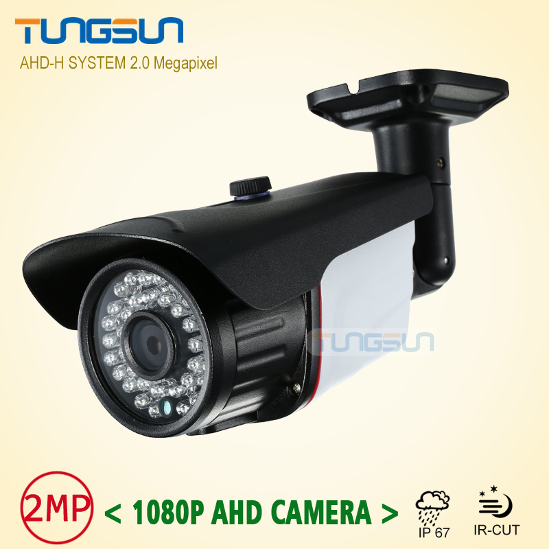New 2MP 1080P AHD Camera Security CCTV Metal Black Bullet Video Surveillance Outdoor Waterproof 36 infrared Night Vision new cctv ahd hd 960p surveillance waterproof outdoor metal bullet security camera infrared night vision 50meter
