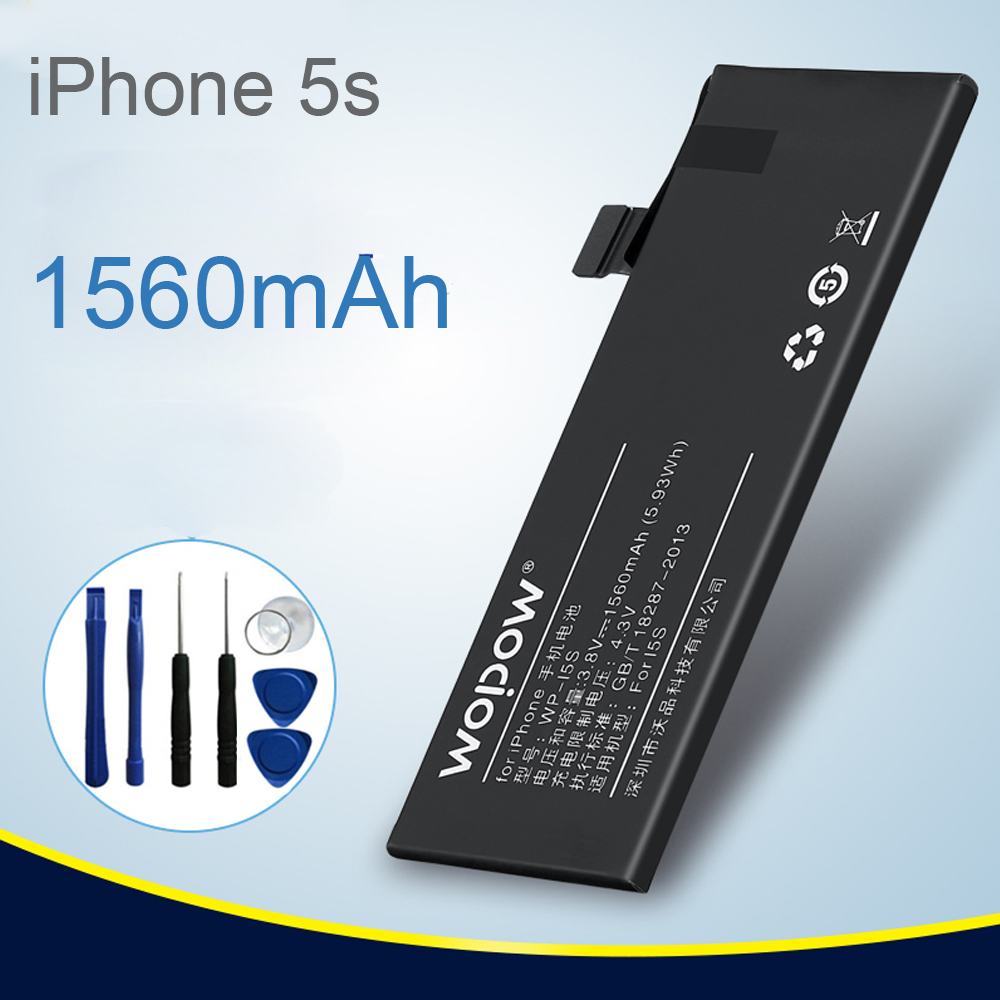 Brand Replacement Internal Real 1560mAh Li-Ion Battery for iPhone 5s+Tools Kit