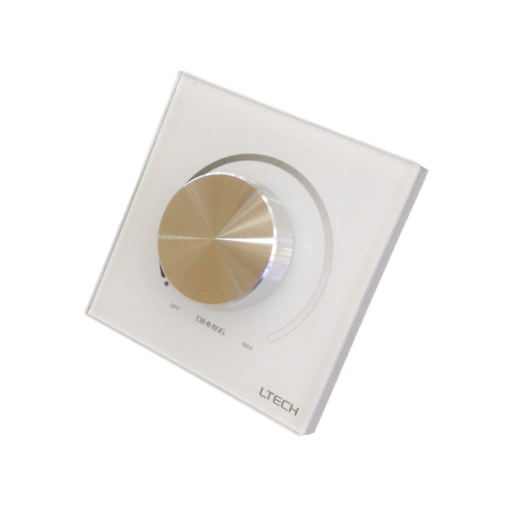 LTECH E610P Led 0-10 V gradateur AC 90 V-250 V haute tension entrée 5A commutation de courant manuel bouton panneau montage mural gradateur