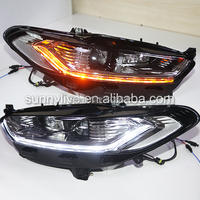 For Fusion Titanium for Mondeo Projector Lens LED Light Moving turning LED light