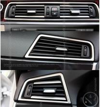 Left hand drive! передняя AC вентиляционное отверстие розетки рамка обложка отделка 3 шт. Для BMW f10 2011 2012 2013 2014
