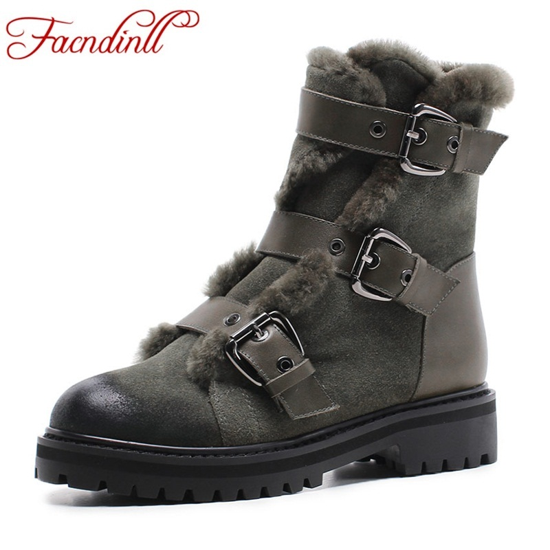 FACNDINLL woman winter snow boots new fashion genuine leather shoes woman platform wedges heel zipper casual women ankle boots 2017 new fashion black women summer boots genuine leather platform shoes woman bowtie creepers gladiator wedges ankle booties