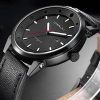 Moda CRRJU mężczyźni data koperta ze stopu syntetyczna skóra analogowy zegarek kwarcowy Sport mężczyzna zegar Top marka luksusowe Relogio Masculino
