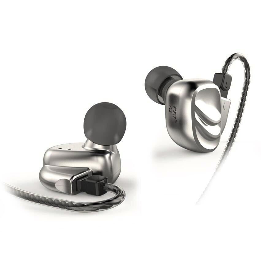 BQEYZ KC2 2BA + 2DD Hybride Drive Métal Dans L'oreille Écouteurs HIFI DJ Monito de Course Sport Écouteurs Boules Quies Casque 2Pin câble détachable