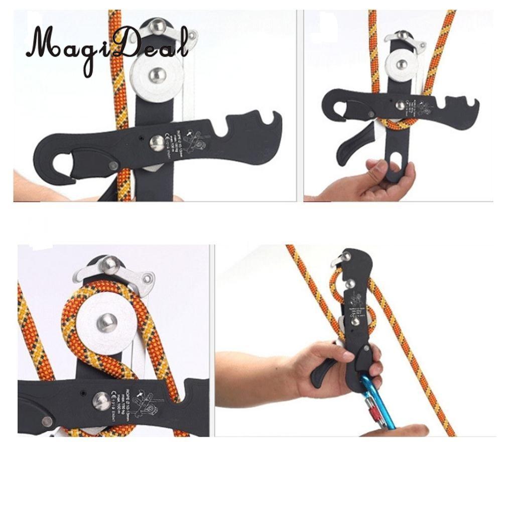 MagiDael Self-braking Stop Descender Gear for 9-12mm Rope Climbing Caving Rappelling english today лингафонный разговорный курс для самообучения