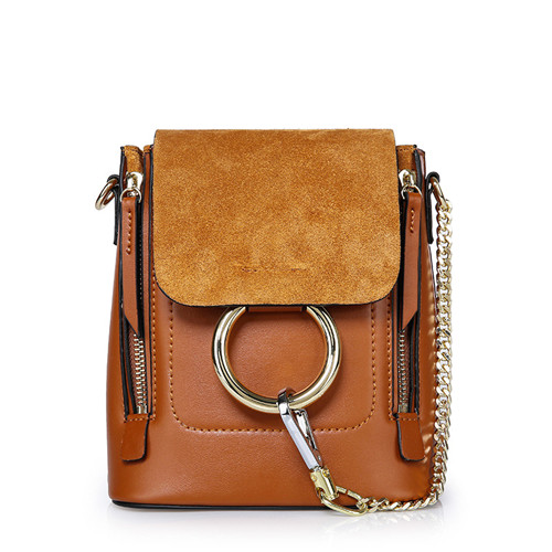 6c2a26f98c 2019 Fashion Women Girls Pocket Ring Chains Summer Cow Leather Backpack  Rucksack Womens Fashion Backpacks Bags Shoulder Bag