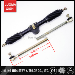 Image 4 - 300mm Steering wheel 420mm Gear Rack Pinion 380mm U Joint Tie Rod Knuckle Assy Fit For China 110cc Go Kart Buggy UTV Bike Parts