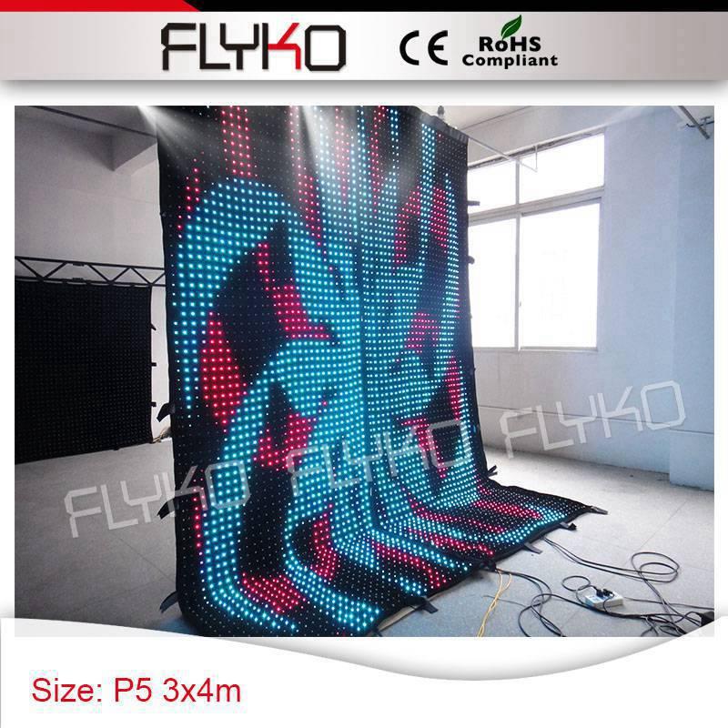 P5cm 4 м Высокое x3m ширина видео дисплей новый дизайн удивительный свет стены под занавес украшение партии