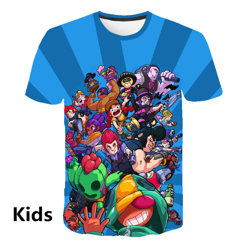 2019 Hot BRAWL STARS   t     shirt   Harajuku tshirt men Clothes streetwear harajuku Short Sleeve Kids pops Tees Plus Size Street style