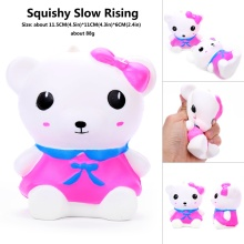 Jumbo 14CM Kawaii super squeeze relieve stress squishy food pack Panda/Bear With a bow  toy stress kitchen educational for child