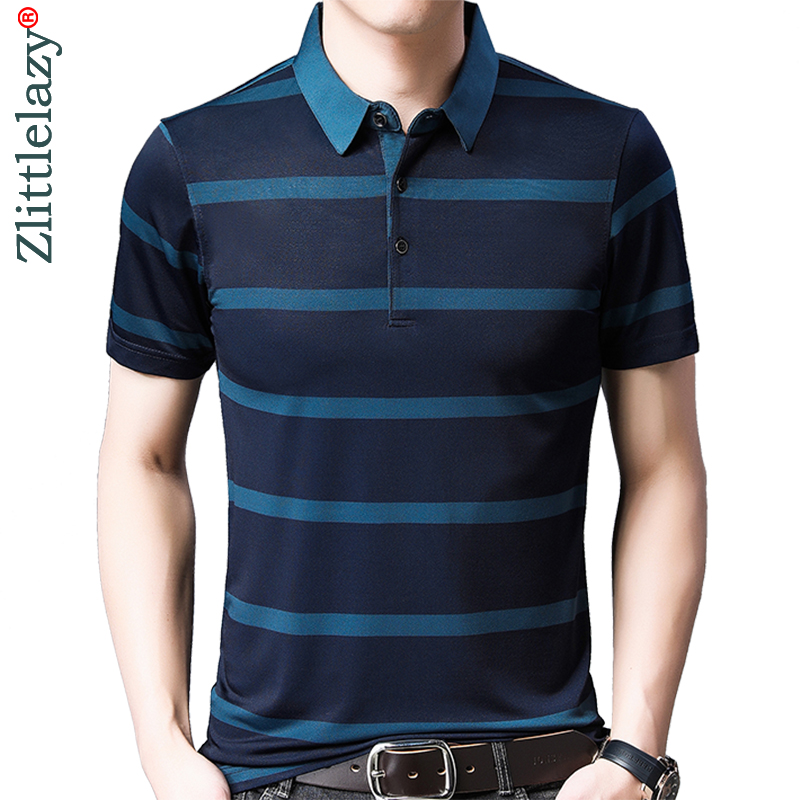 2019 brand casual summer striped short sleeve   polo   shirt men poloshirt jersey luxury mens   polos   tee shirts dress fashions 50537