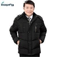 Mens Winter Jacket 2017 New Hooded Men S Cotton Large Size Black Plus Cashmere Warm Loose