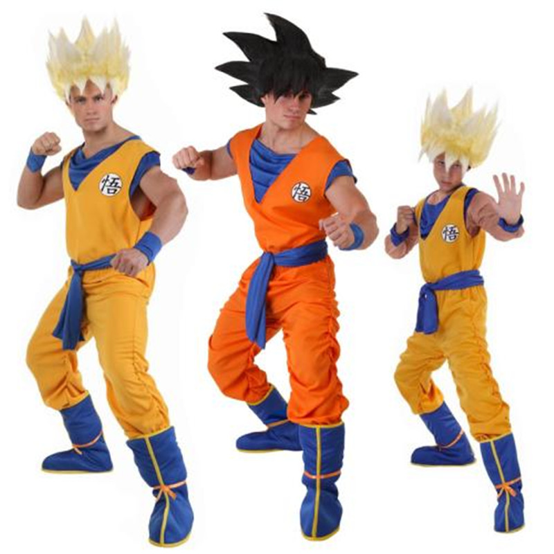 f389ce3e75a08 Dragon Ball Z Suit Clothes Son Goku Cosplay Costumes Top/Pant/Belt ...