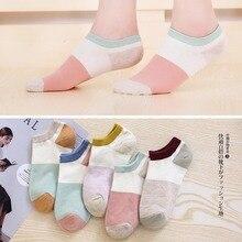 5 Pairs/Lot Women Cotton Summer Boat Socks Popsocket Stopki Comfortable Breathable Durable Female Short low  Babet Corap