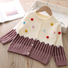 2019 Autumn And Winter New Baby Girl Sweaters Cardigan Sweat
