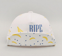 2016 New Baby Hat Cartoon Fruit Banana Kids Baseball Hat Soft Boy Sun Hats Summer Cotton