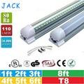 100pcs 1ft 2ft 3ft 4ft 5ft 6ft 8ft T8 Led Tubes Light 18W 22W 28W 36W 45W Integrated Led Fluorescent Tube Lamp AC 110-240V