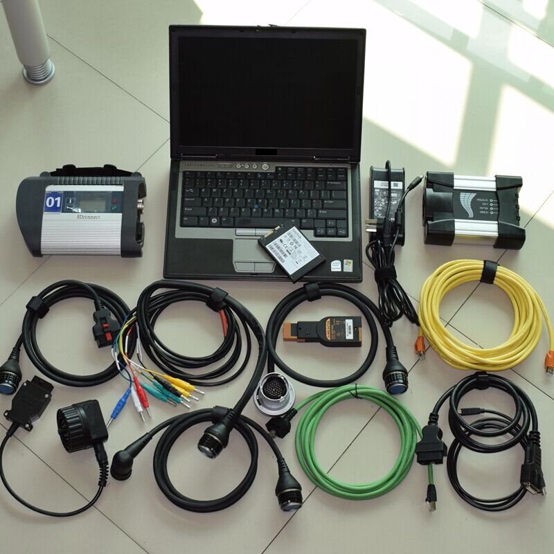 super 2in1 diagnostic-tool for mb star c4 for bmw icom next 1tb ssd in d630 laptop run fast best quality use directly