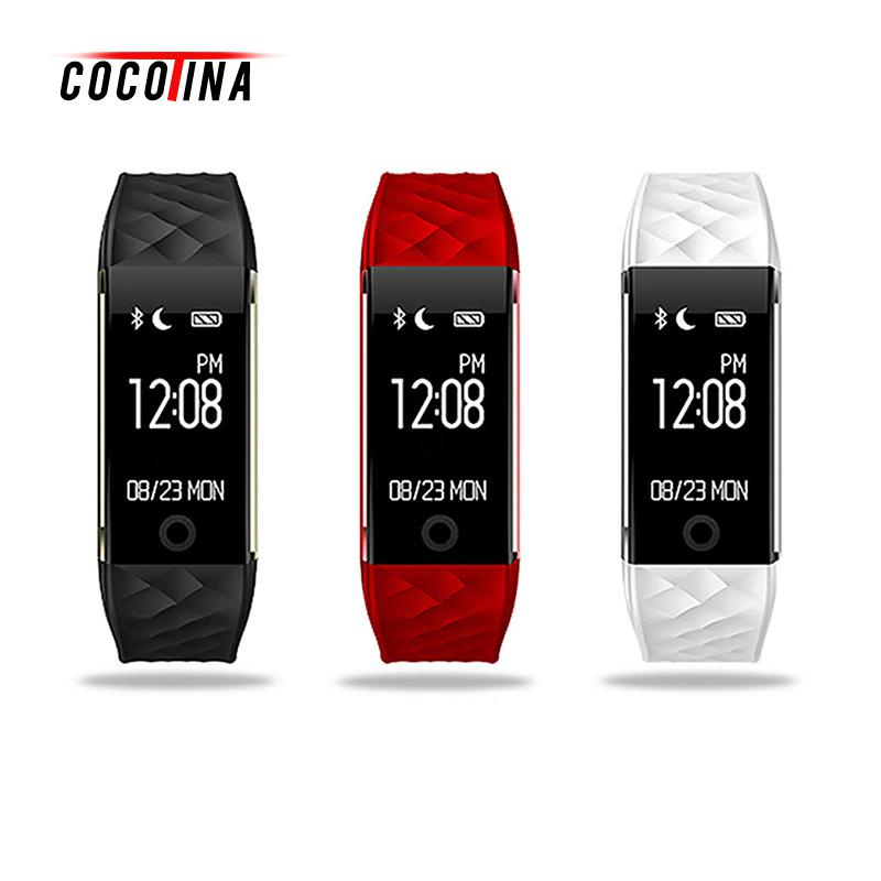 COCOTINA Waterproof S2 Dynamic Heart Rate Monitoring Sleep Bluetooth Sports Smart Watch Bracelet Phone Mate For Android IOS waterproof smart watch bluetooth watch wristwatch professional ip68 swimming mode healthy heart rate watch for ios android phone