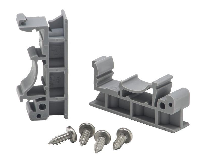 Горячая Распродажа печатной платы, 1 комплект простой монтажной платы для монтажа на DIN-рейку, монтажный адаптер 2x + винты 4x
