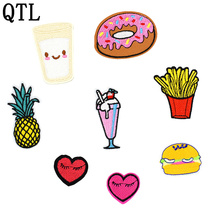 8PCs fashion mixed patches for clothing iron on embroidered appliques sew clothes sewing accessories DIY
