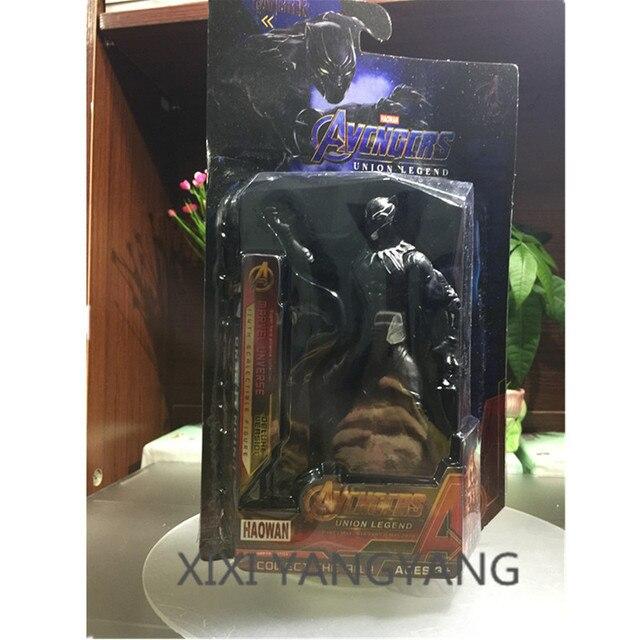 Homem De Ferro Avengers Superhero guerra infinito Black Panther companheiro de equipe de Ação PVC Figura de Brinquedo com Luz LED Mãos e pés mover Q246