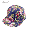 Kakaforsa Women Flowers Print Cotton Baseball Caps Men Adjustable Snapback Hats Bone Hip Hop Trucker Cap Sombreros Casquette