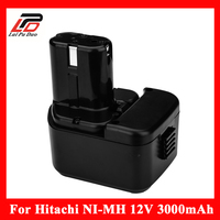 For Hitachi 12V 3.0Ah Battery 3000mAh NI MH Power Tool Replacement Battery for EB1212S EB1214L EB1214S EB1220BL DS 12DVF DS 12DV