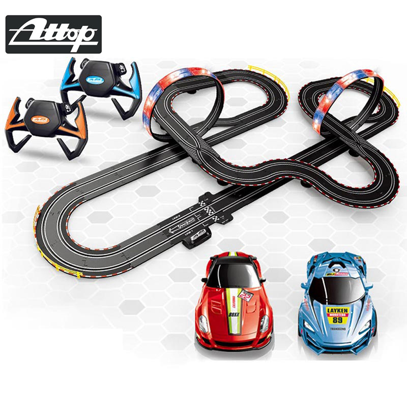 ATTOP 1 43 Race Track DIY Remote Control Kids Car Electric handle control Racing Car Track