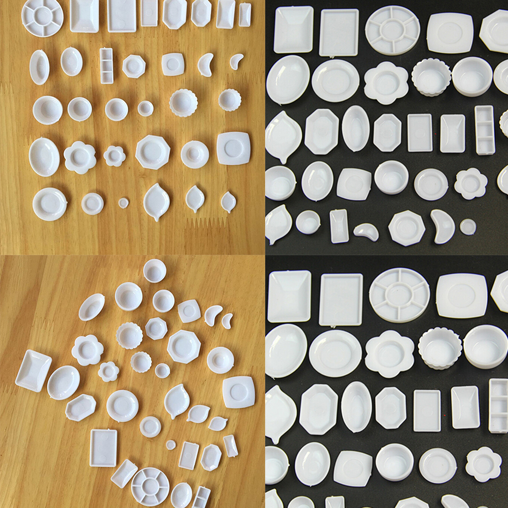 33Pcs/Set Kitchen Mini Tableware Miniatures Cup Plate Dish Decor Toys For Kids Girls Gifts Doll Accessories Wholesale