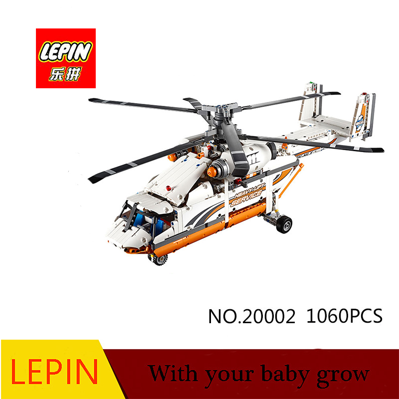 DHL lepin 20002 technology series mechanical group high load helicopter blocks Compatible With 42052 Boy assembling toy new lepin 20002 technology series mechanical group high load helicopter blocks compatible with 42052 boy assembling toys