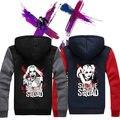 Dropshipping США Suicide Squad Харли Квинн Случайный Толстовка пальто Верхняя Одежда Толстовка С Капюшоном Куртки Мужская куртка на заказ