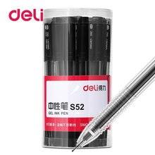Deli 30 шт/лот 05 мм гелевая ручка пластиковые чернильные нейтральные